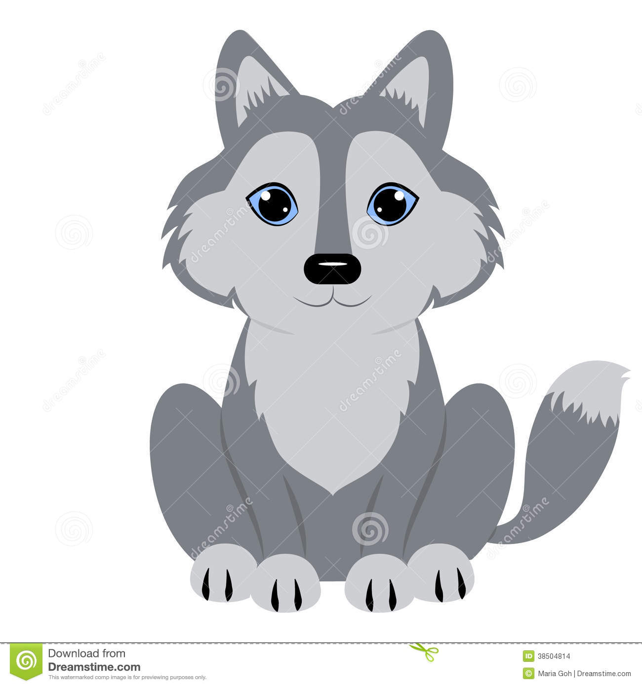 Child Wolf Clipart Clip art of Wolf Clipart #1660 — Clipartwork.