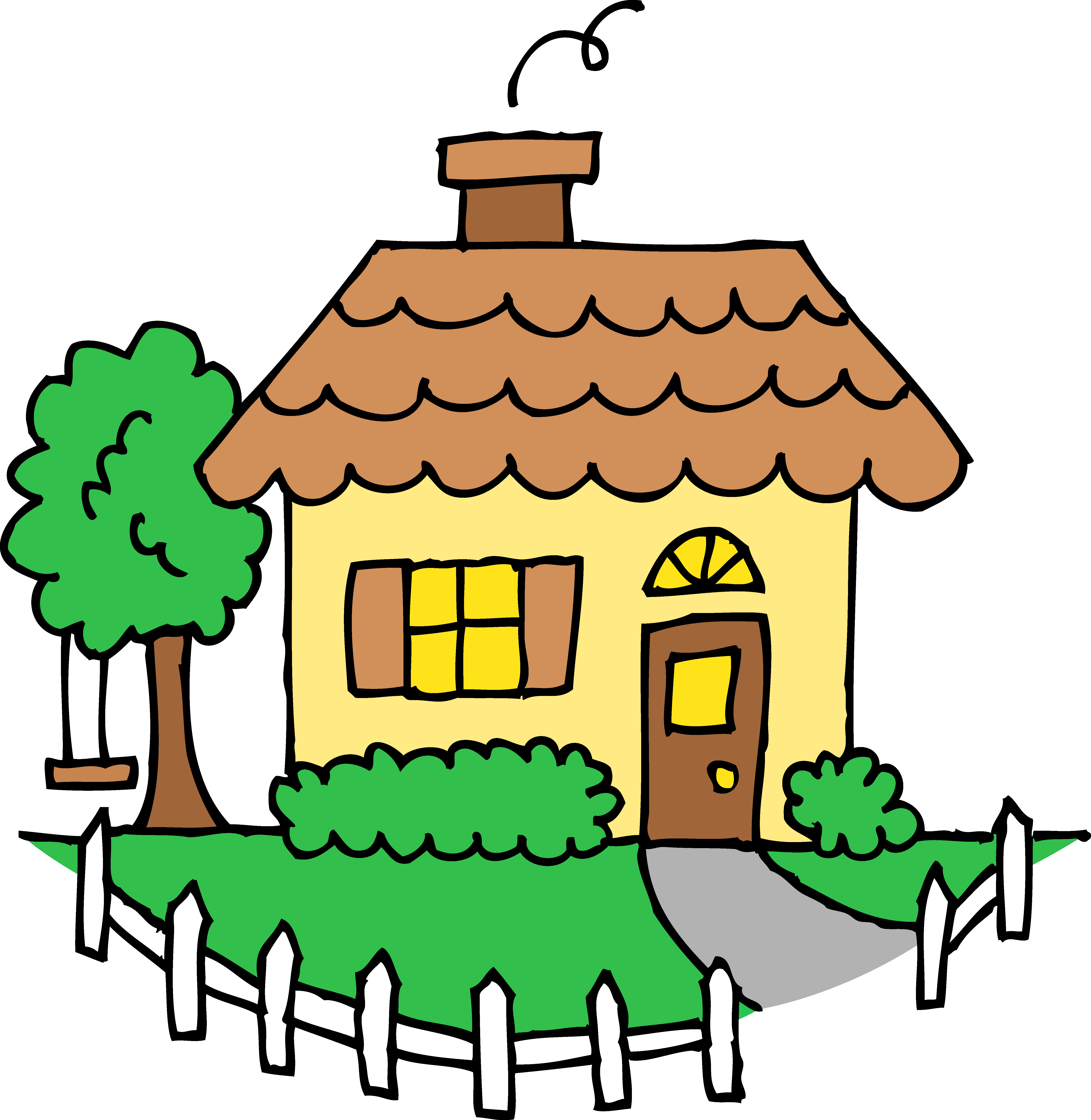 Free Cute House Clipart Image.