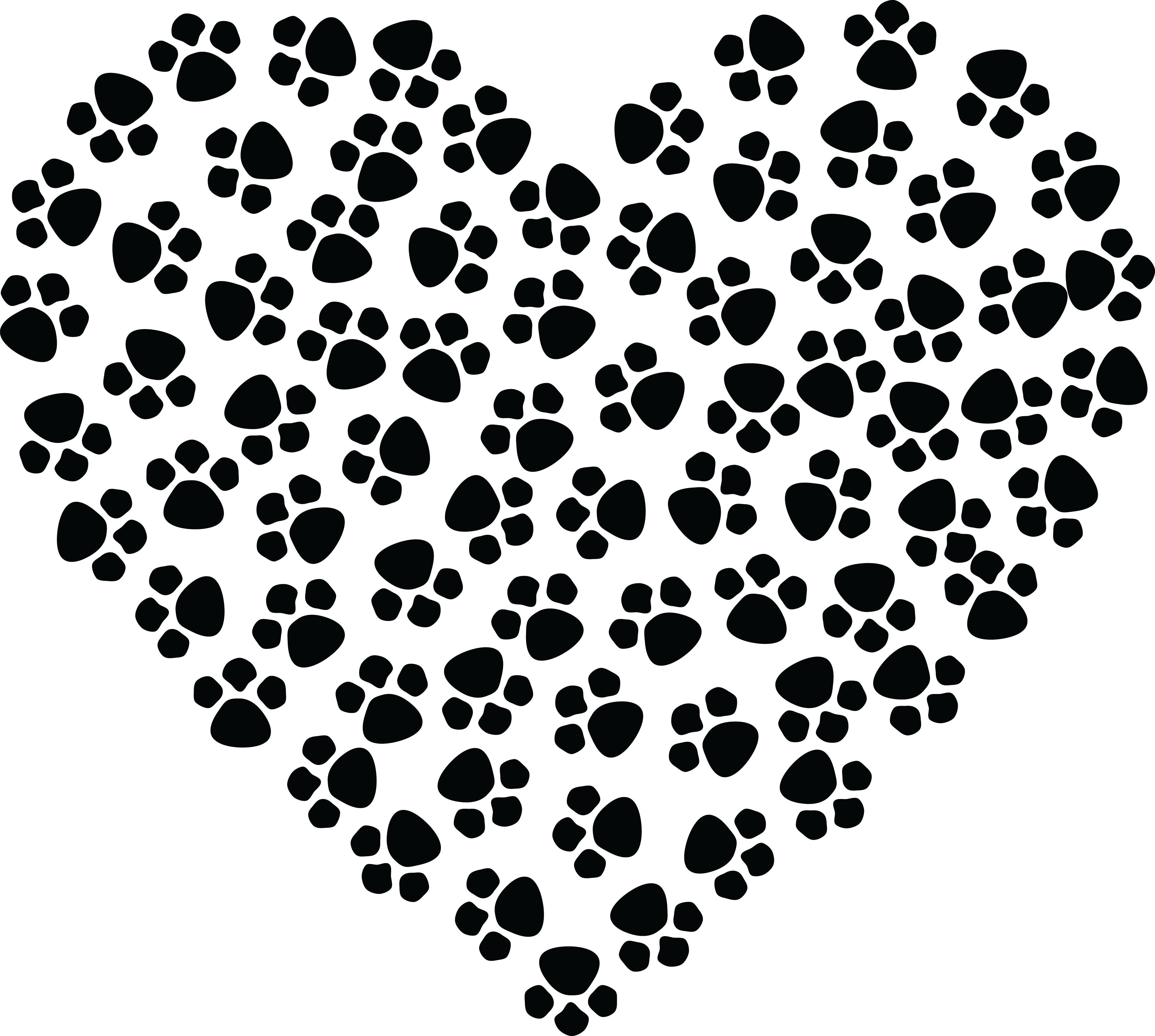 paw print heart clipart 1680 free clipart of a paw print heart.