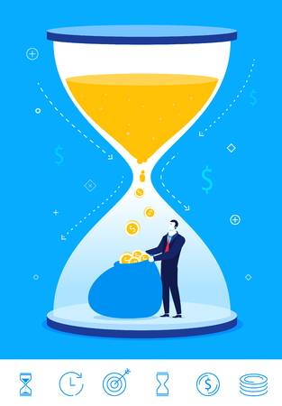 1,685 Hourglass Money Stock Illustrations, Cliparts And Royalty.