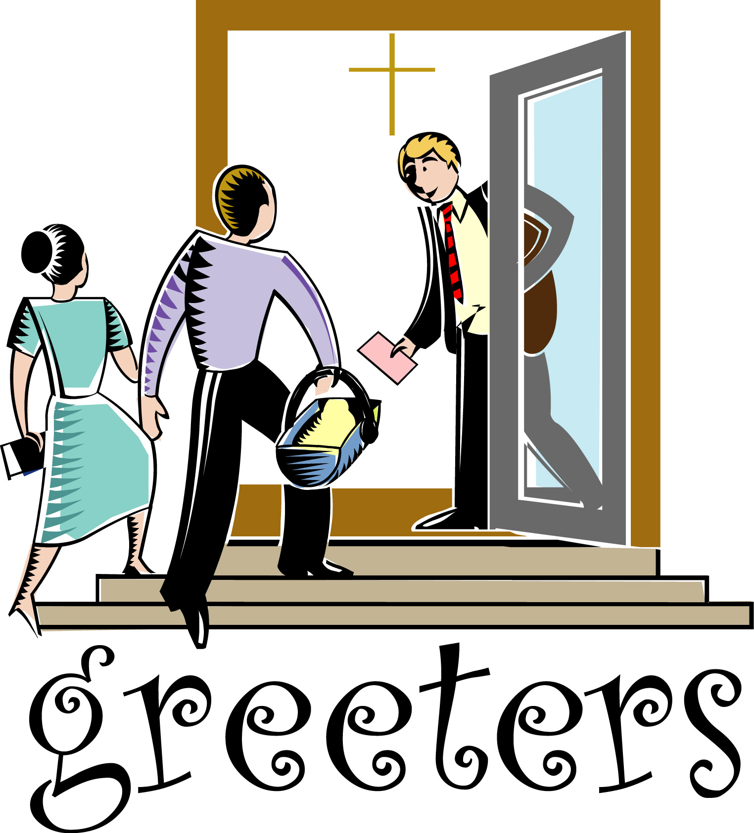 Greeter clip art.