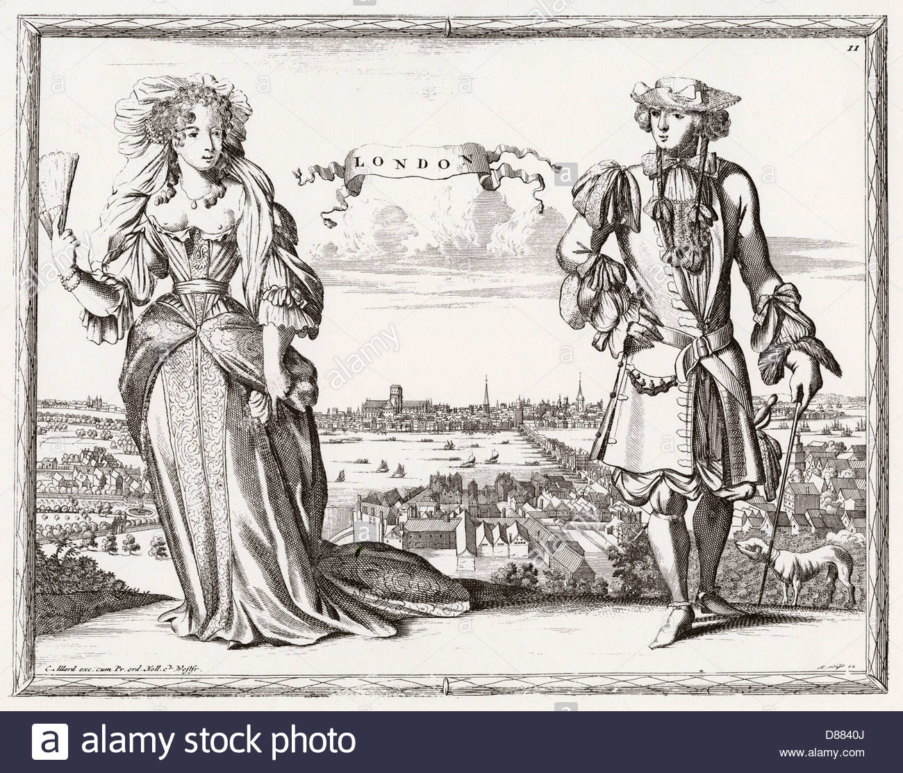 Londoners 1690s Stock Photo, Royalty Free Image: 56727122.
