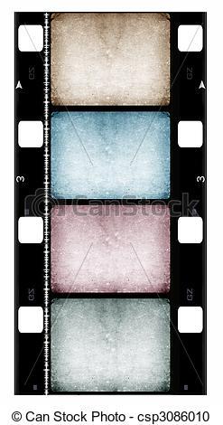 Stock Illustration of 16mm Film roll,2D digital art csp3086010.