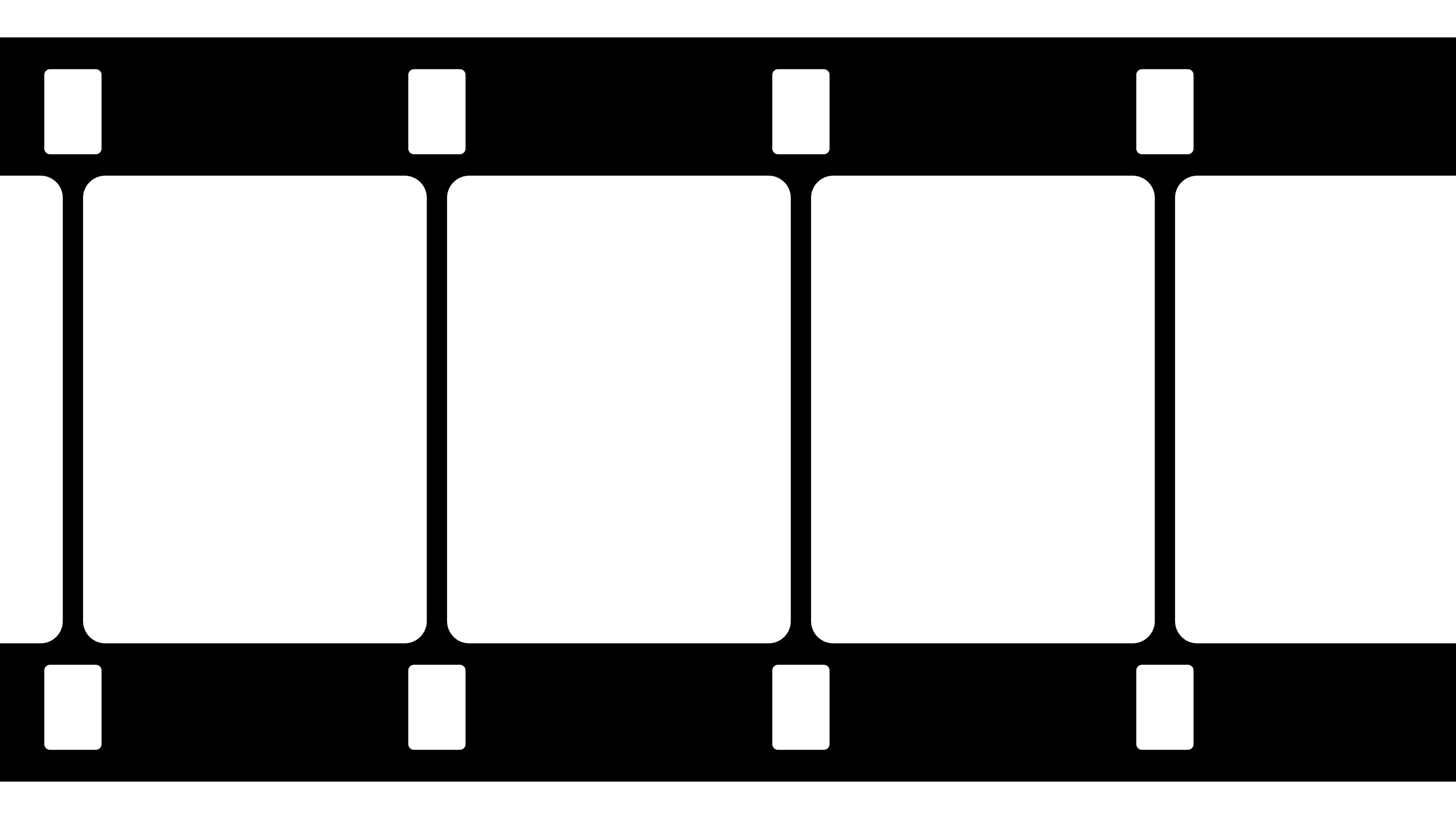 16mm Film Strip Black and White Video Footage ~ Hi Res #69729856.