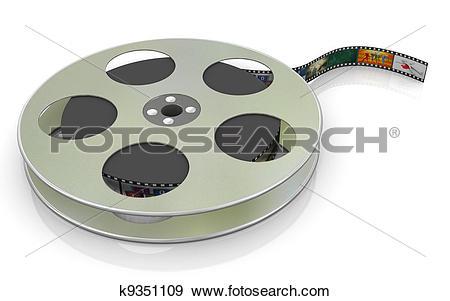 Stock Illustration of 3d 16mm film reel k9351109.