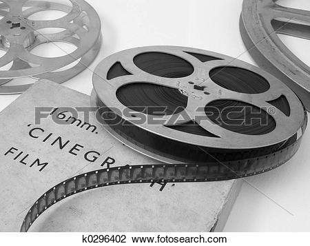 Stock Photo of 16mm Film Reel k0296402.