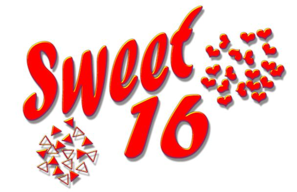 Happy Sweet 16 Birthday Clip Art.