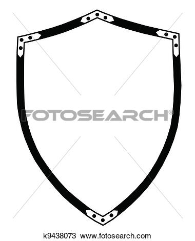 Clipart of Isolated 16th Century War Shield k9438073.