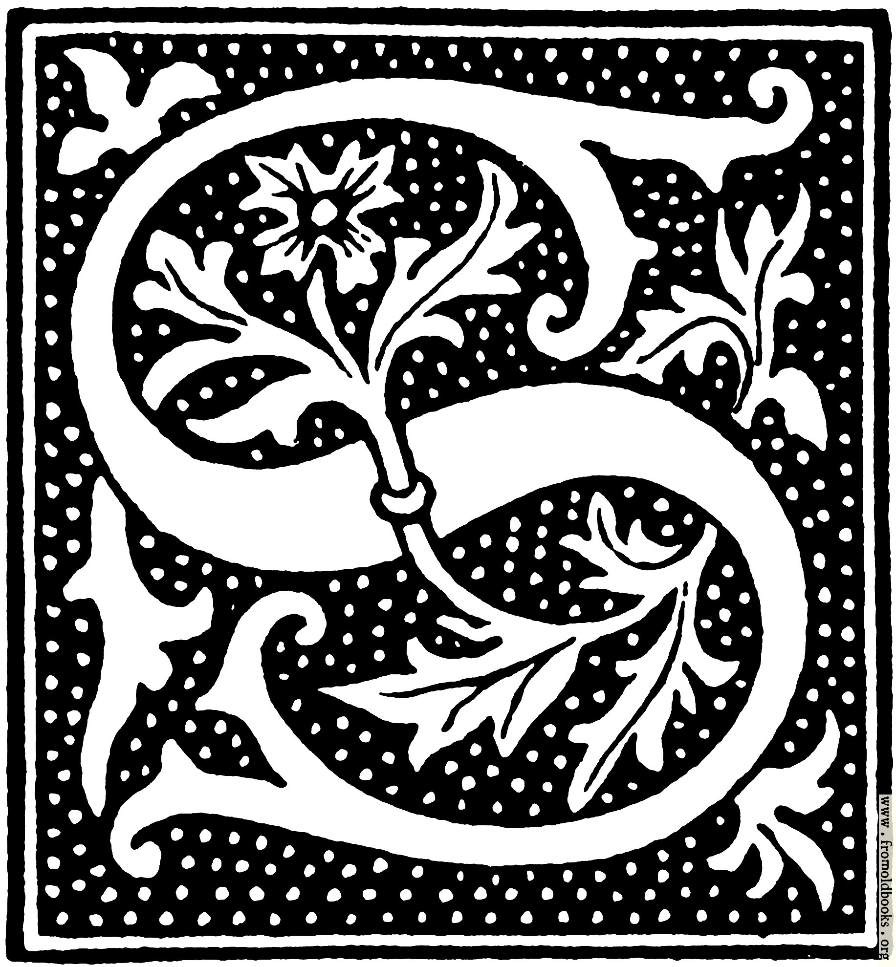 clipart: initial letter S from beginning of the 16th Century.