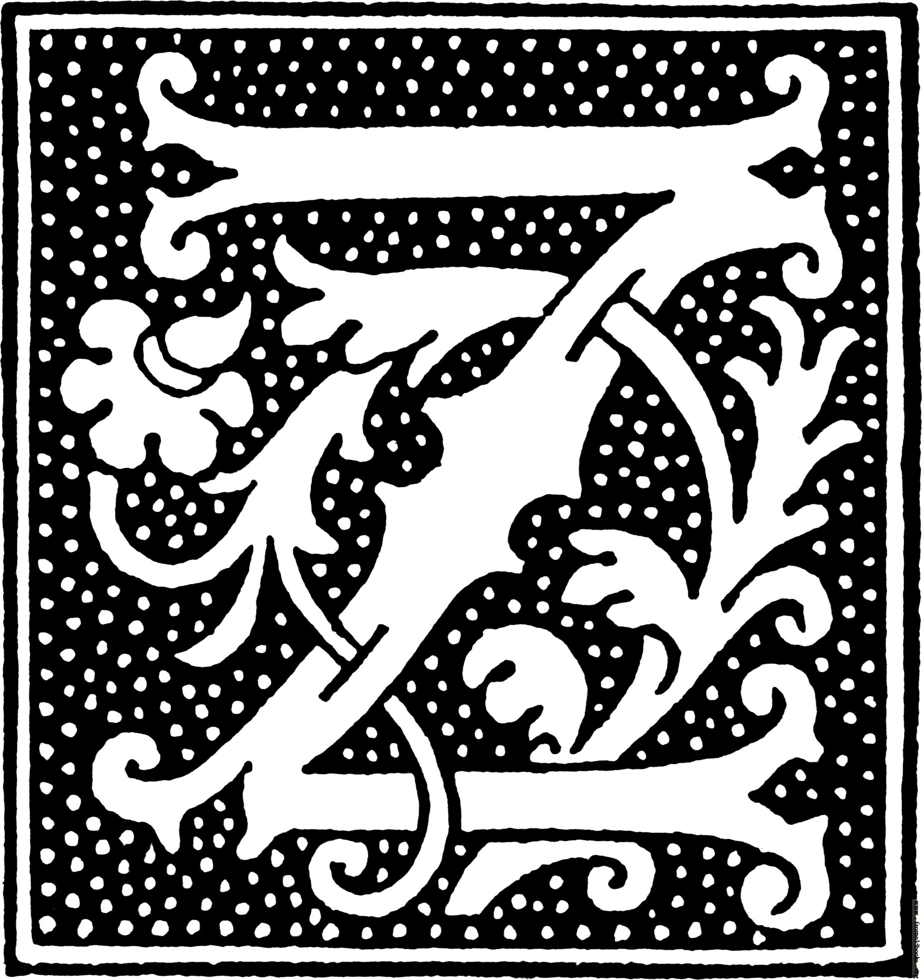clipart: initial letter Z from beginning of the 16th Century.