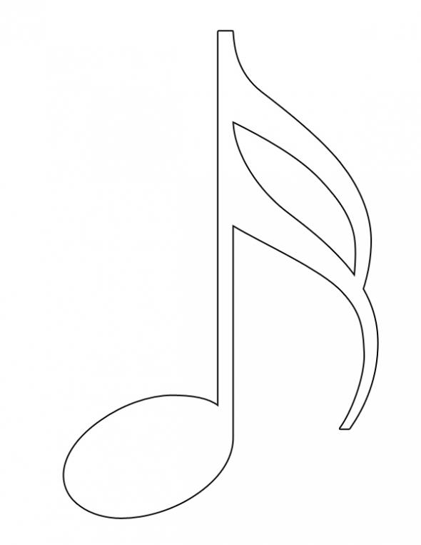 Sixteenth Note Clip Art.