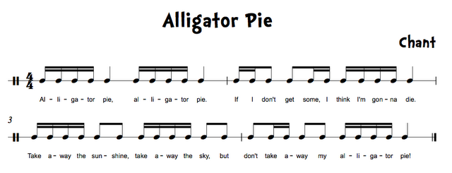 Folk Songs with 16th note & 8th/16th note patterns.