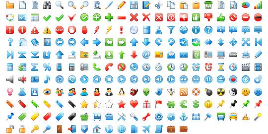 16x16 Free Application Icons.