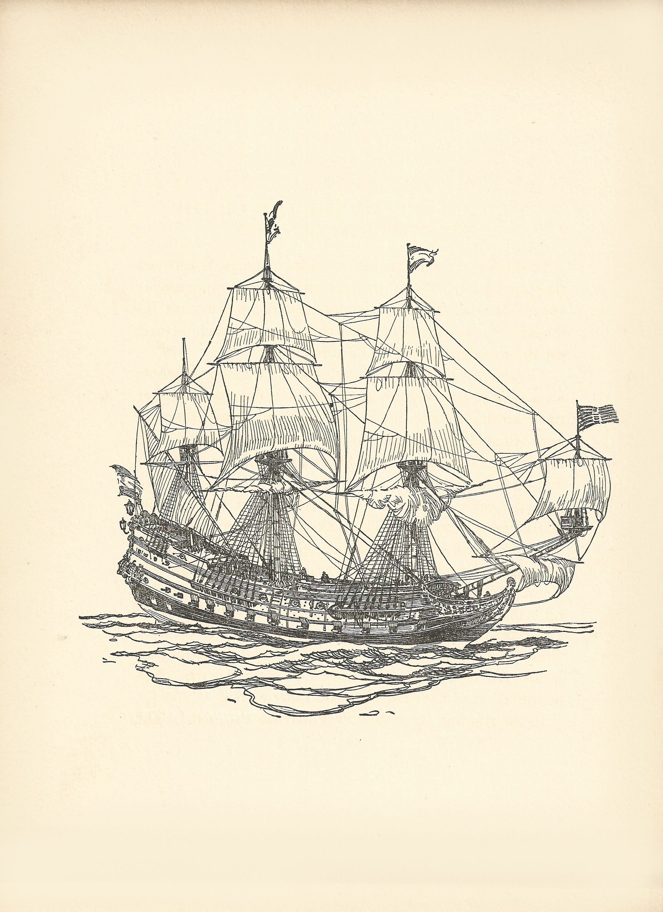 A Dutch Ship of the End of the 17th Century , 7\