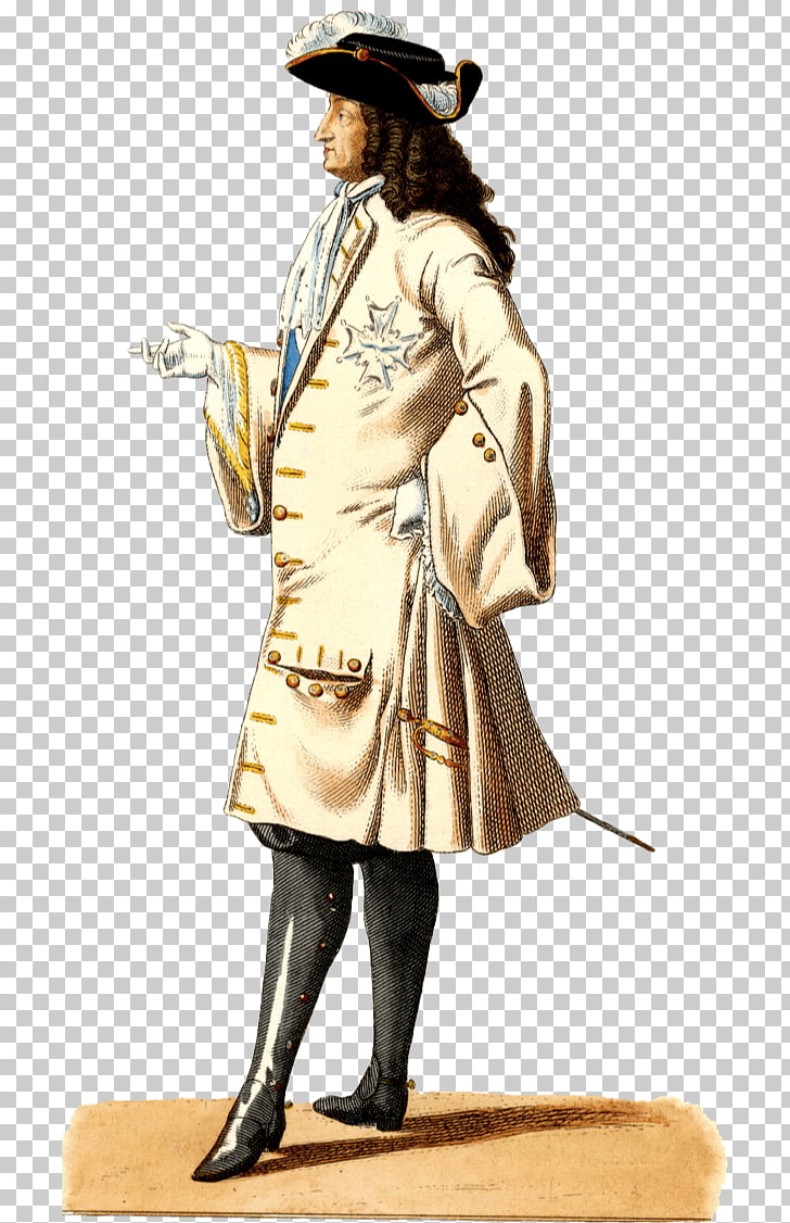 Portrait of Louis XIV Victorian era 17th century Costume.