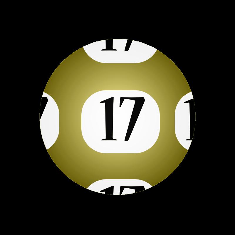 Free Clipart: #17 Lotto Ball.