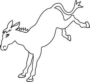 Donkey clipart black and white #17.
