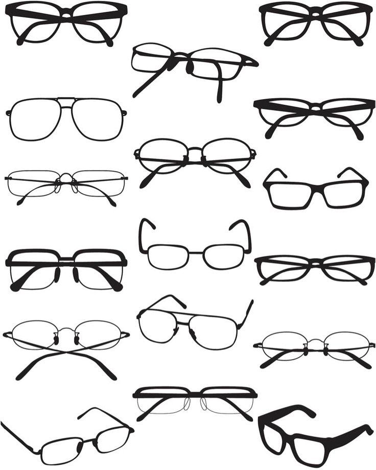 Glasses vector.