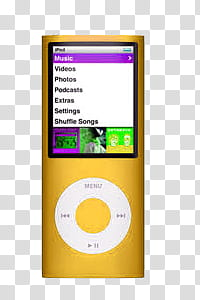 Objects, gold iPod nano transparent background PNG clipart.