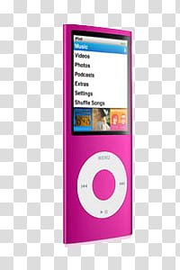 Objects, pink iPod Nano transparent background PNG clipart.