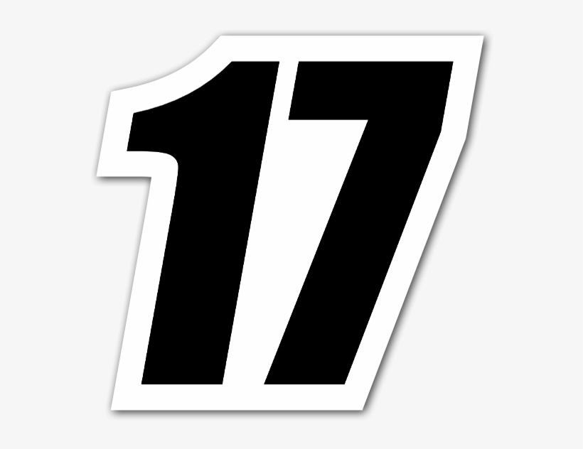 Black Racing Number 17 Sticker.
