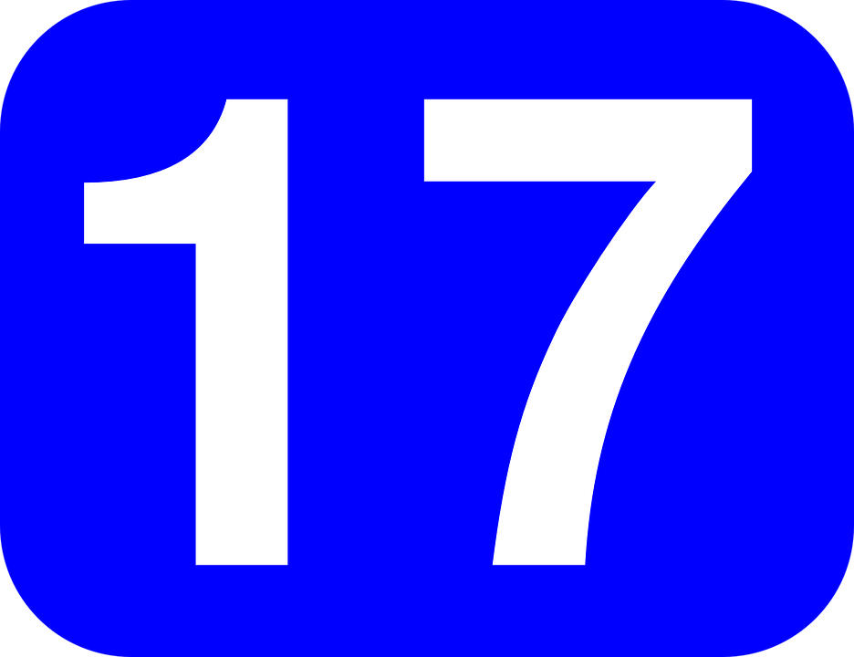 Number Seventeen 17.