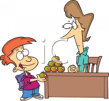 Teacher Apple Clipart #170.