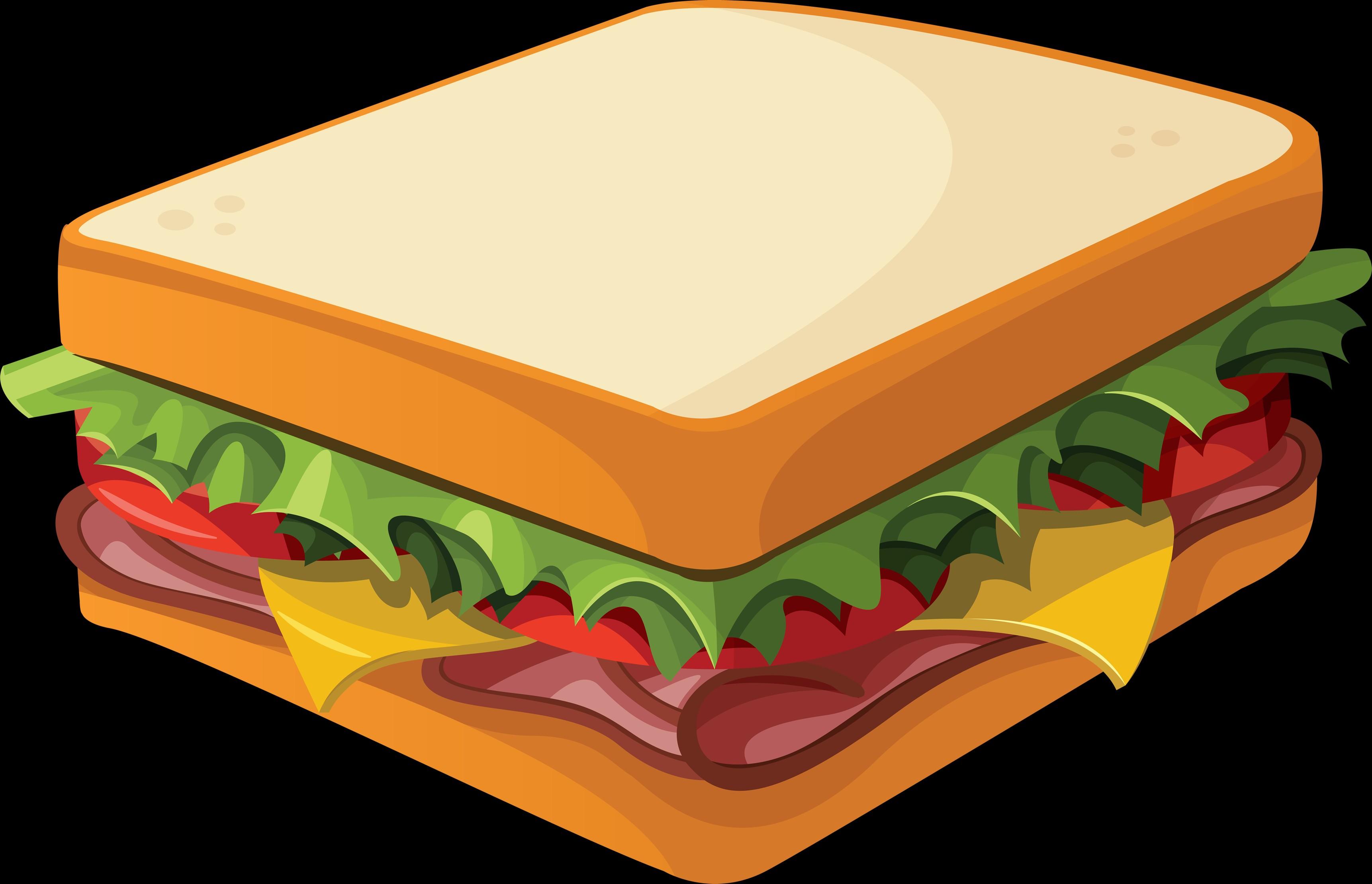 Sandwich Clipart #210.