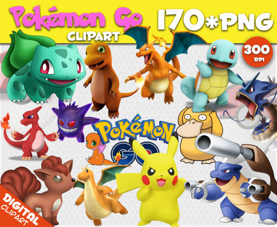 Pokemon GO Clipart 170 PNG 300dpi Images Digital by 1001Clipart.