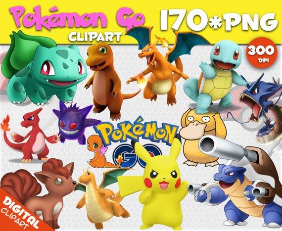 Pokemon Go Clipart 170 PNG 300dpi Images Digital Clip Art.