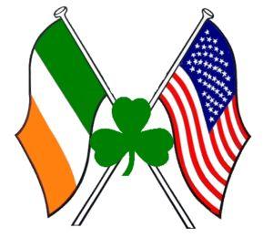 I am Irish American! (Flags with Shamrock).