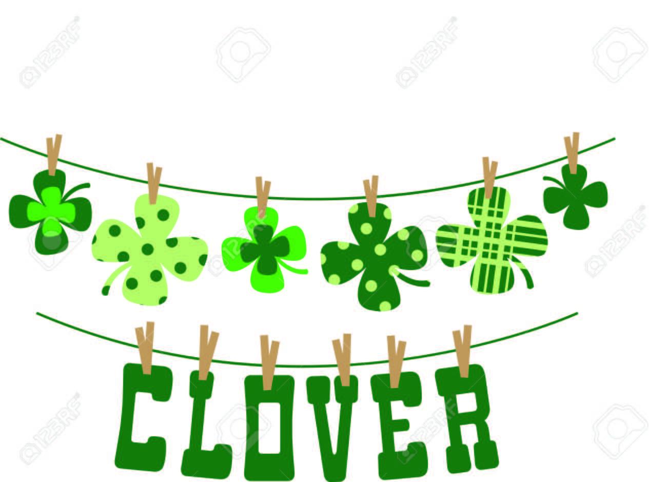 Enjoy St. Patricks Day With Your Irish Shamrock Clothesline.