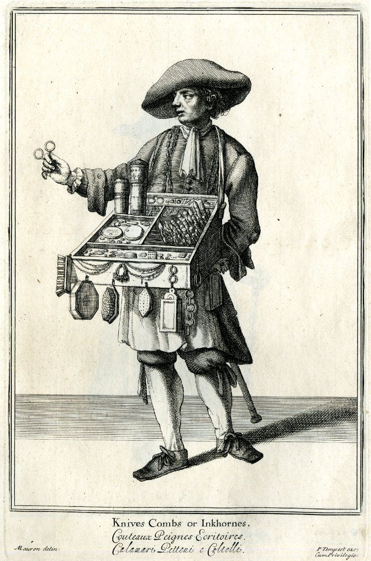 17th century London street vendor.