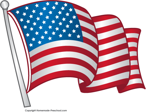 American flag 1700s clipart.