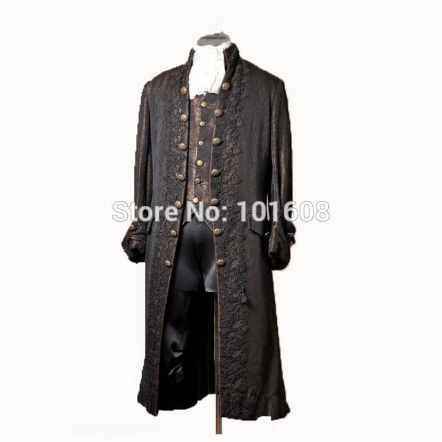 Tailored!Jackets+Shorts 2PCS Men\'s Brown Lace Vintage Costumes MAN COURT  Coats DRESS Victorian Jackson concert MALE Suits N.