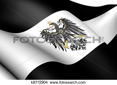 Drawings of Kingdom of Prussia Flag (1701.