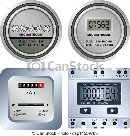 Electric meter clipart.