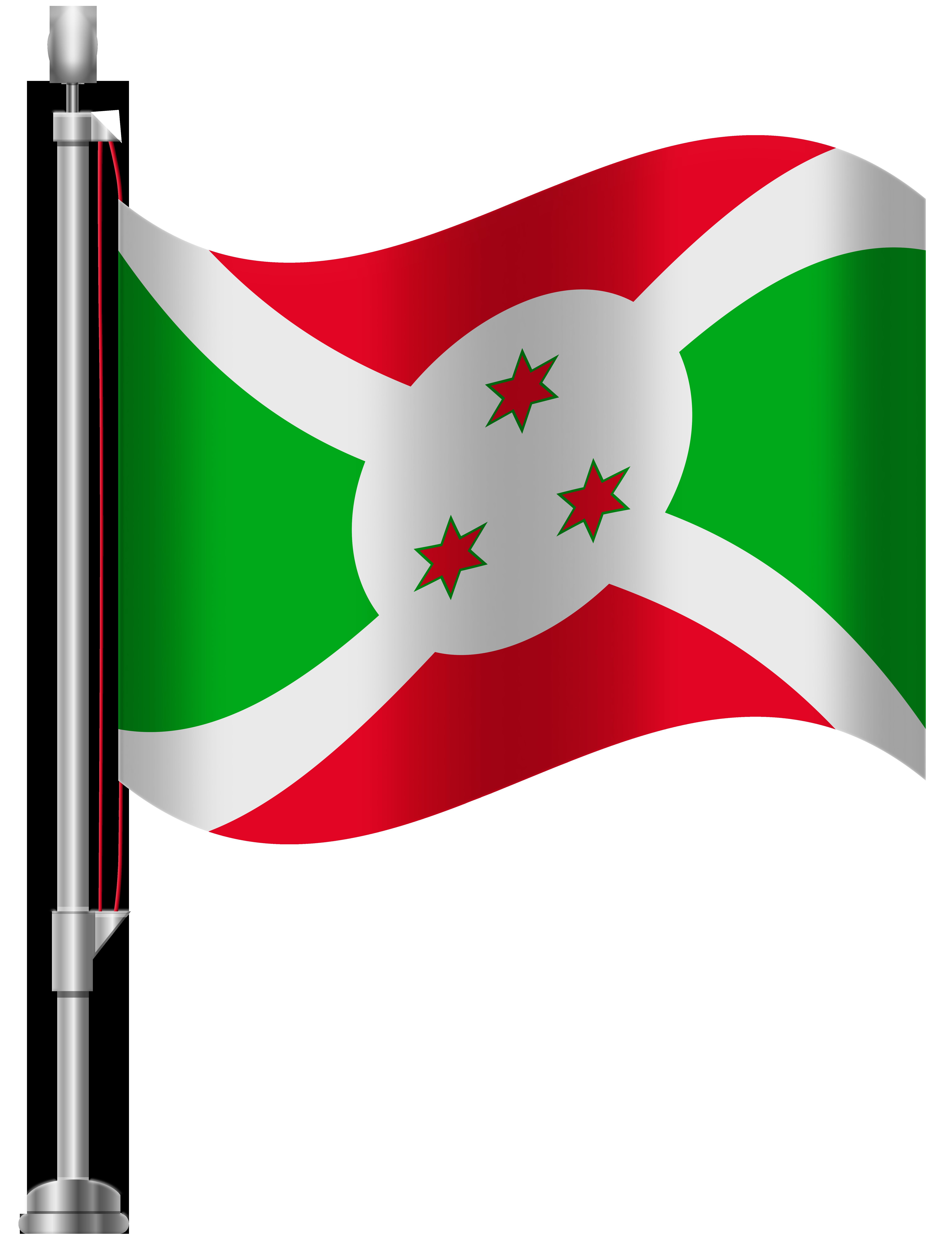 Burundi Flag PNG Clip Art.