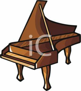 Clipart Picture of a Piano.