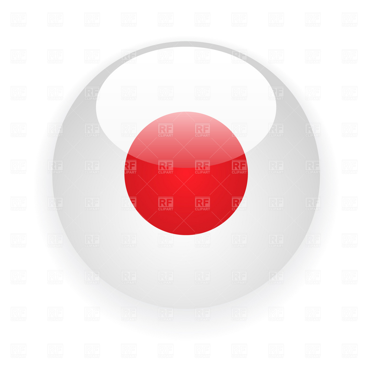 Japan button flag Vector Image of Icons and Emblems © prague #1730.