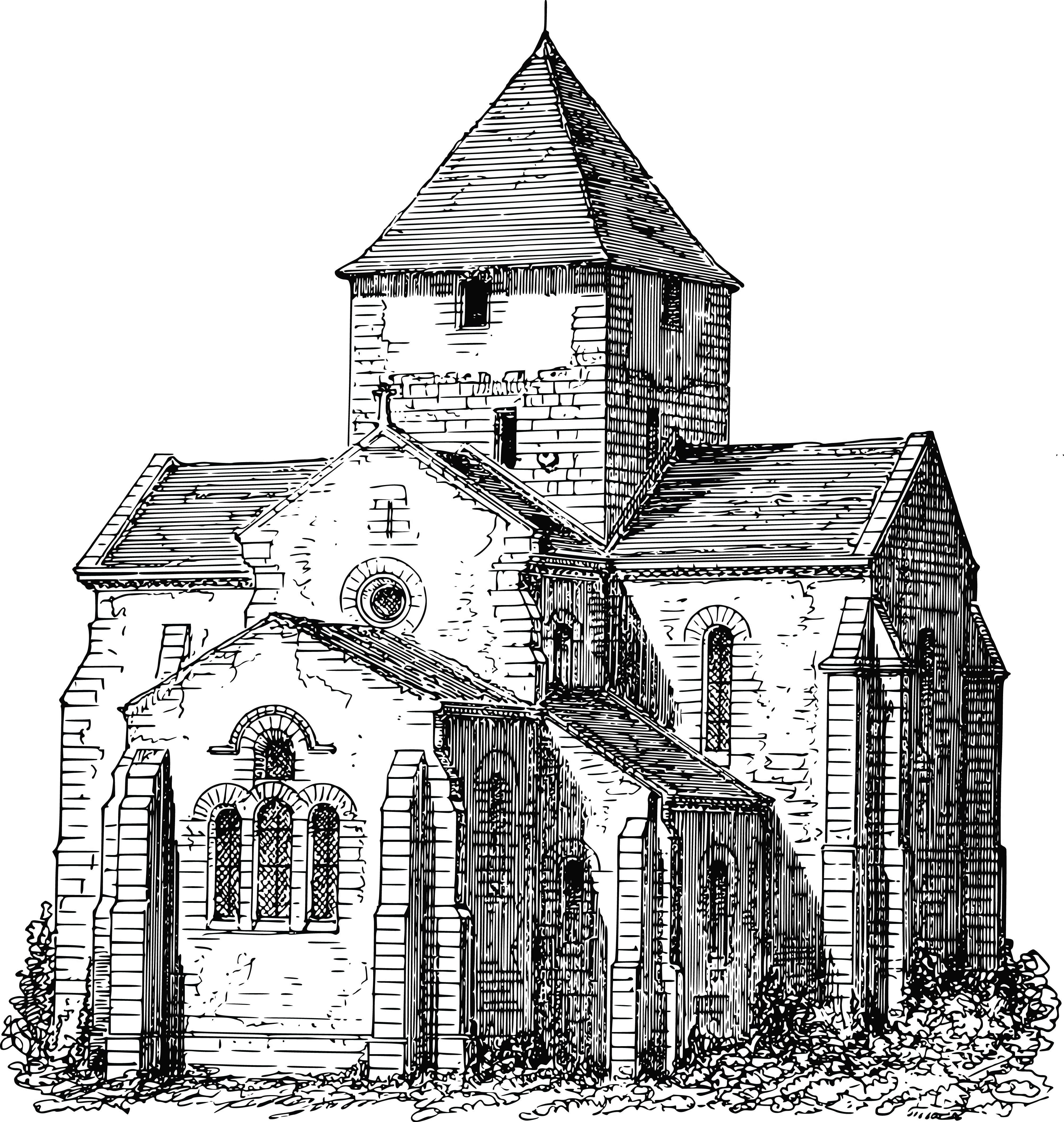 Free Clipart Of A church.