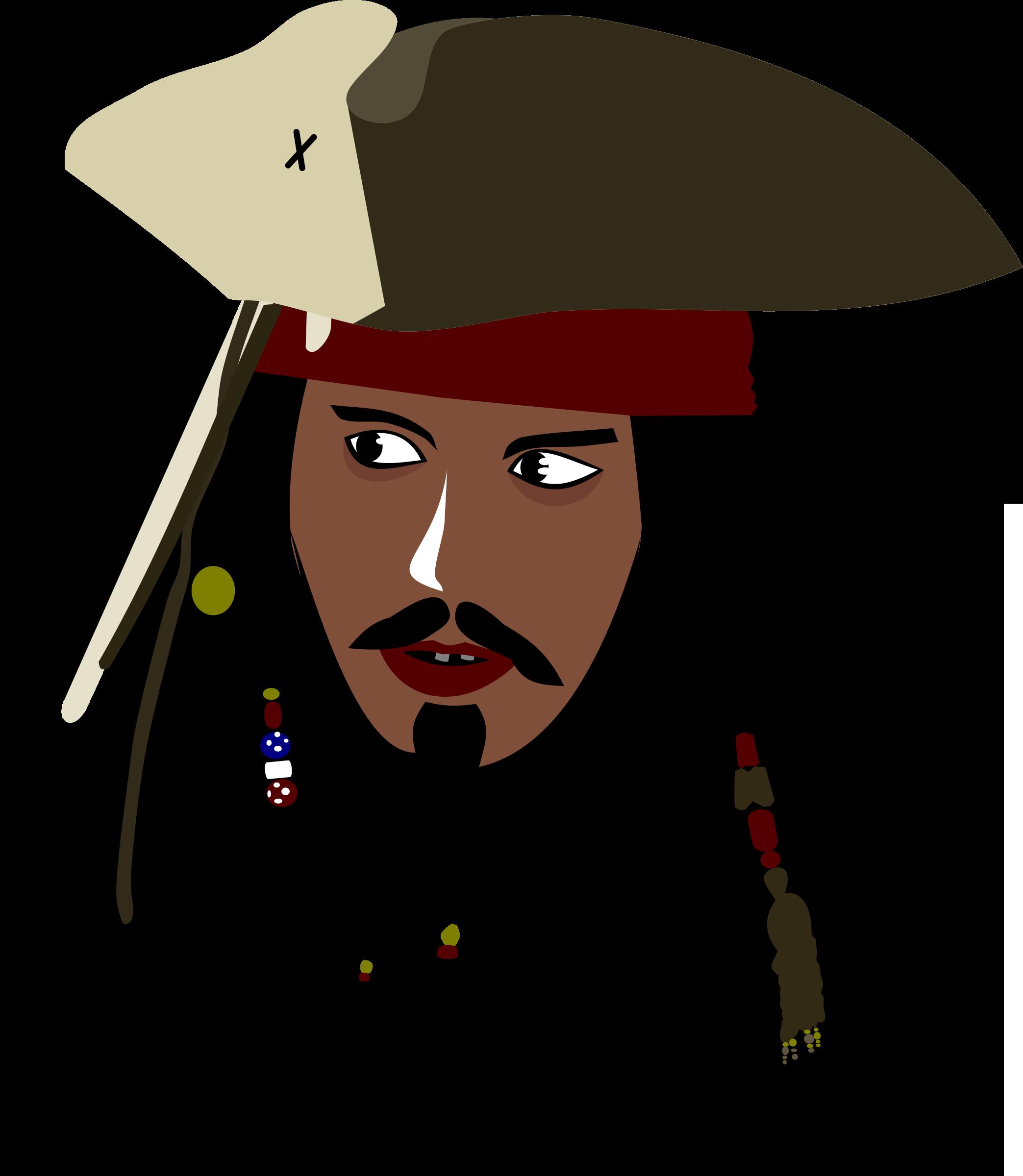 Captain Jack Sparrow Vector Clipart.
