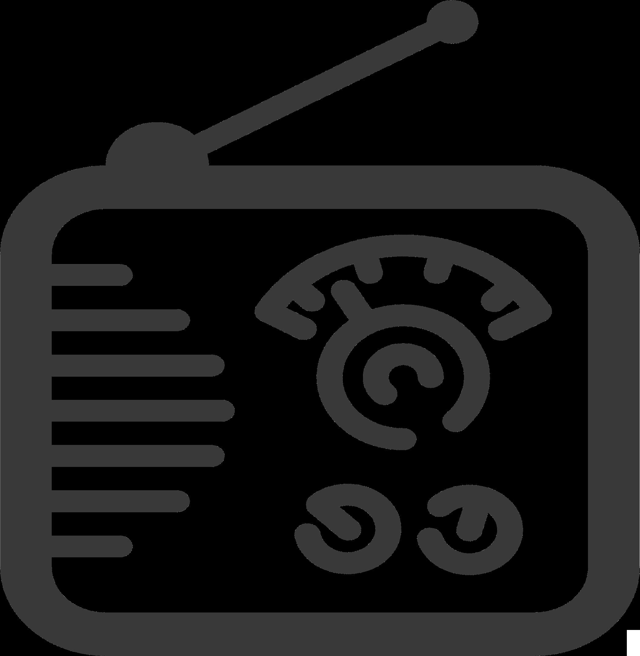 Radio Icon Vector Clipart.