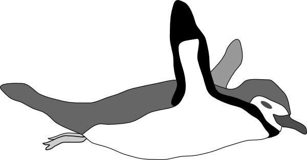 Penguin Swim Clip art.