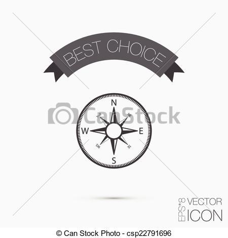Orienteering compass clip art.
