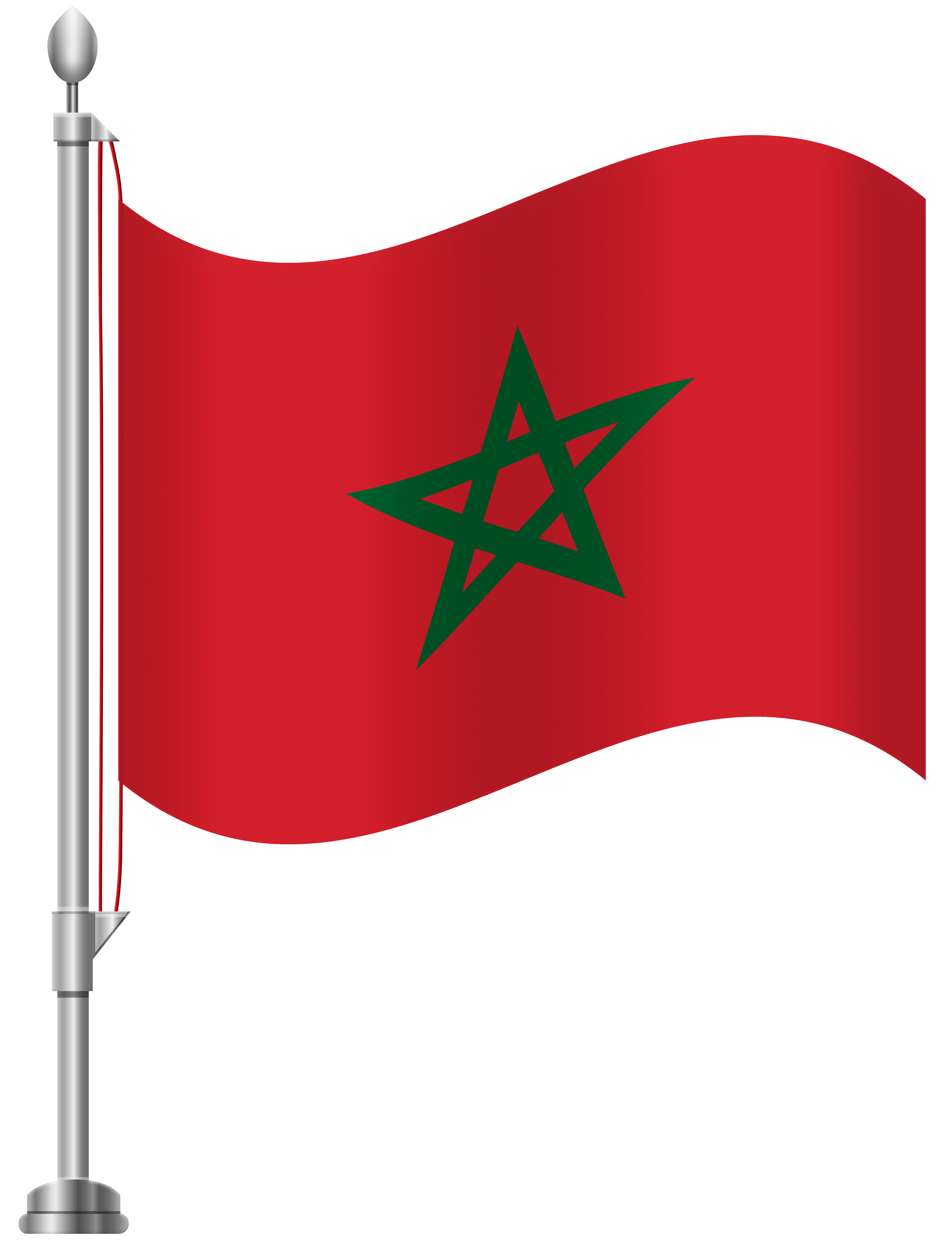 Morocco Flag PNG Clip Art.