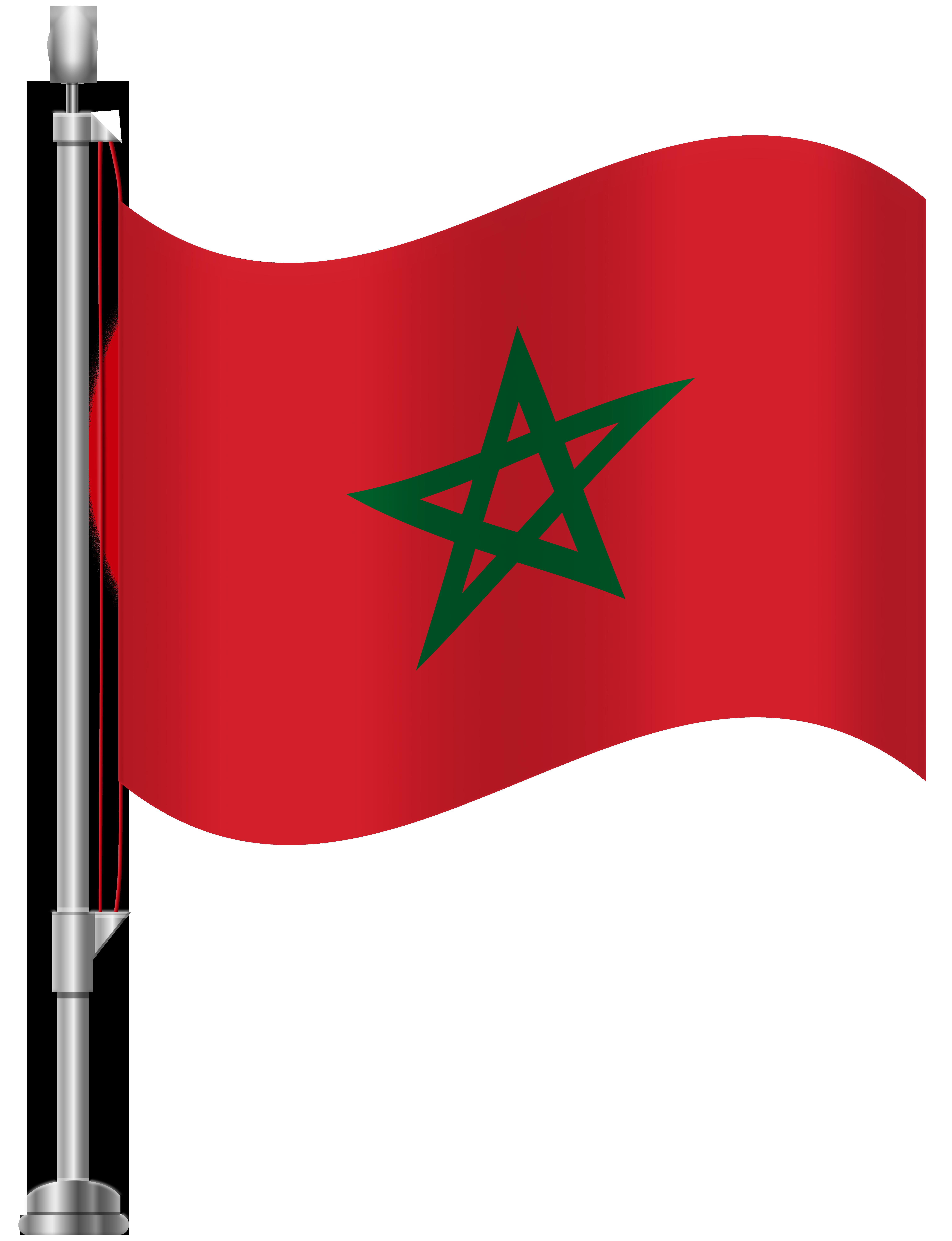 Morocco Flag PNG Clip Art.