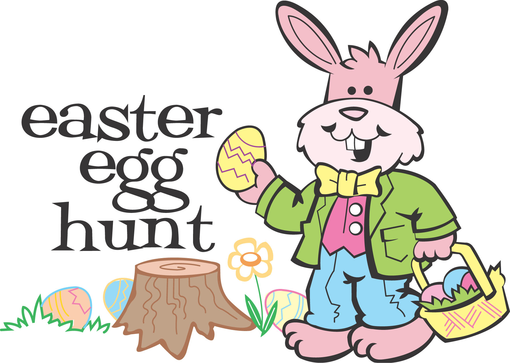 Easter Hunt Clip Art.