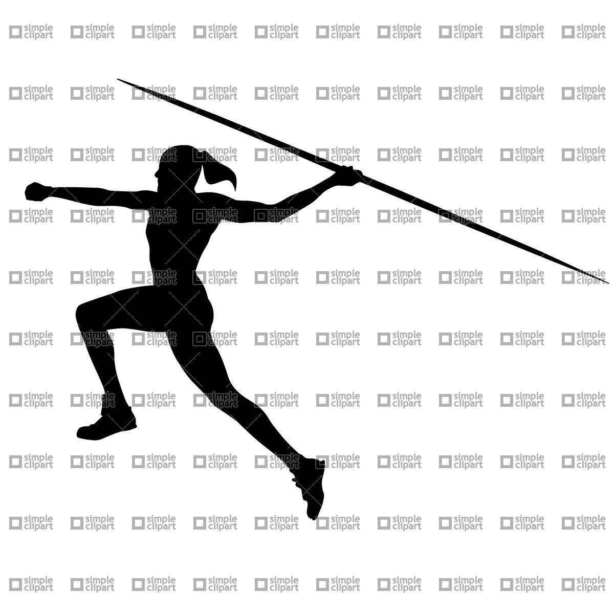 Women's javelin Vector Image #1770.