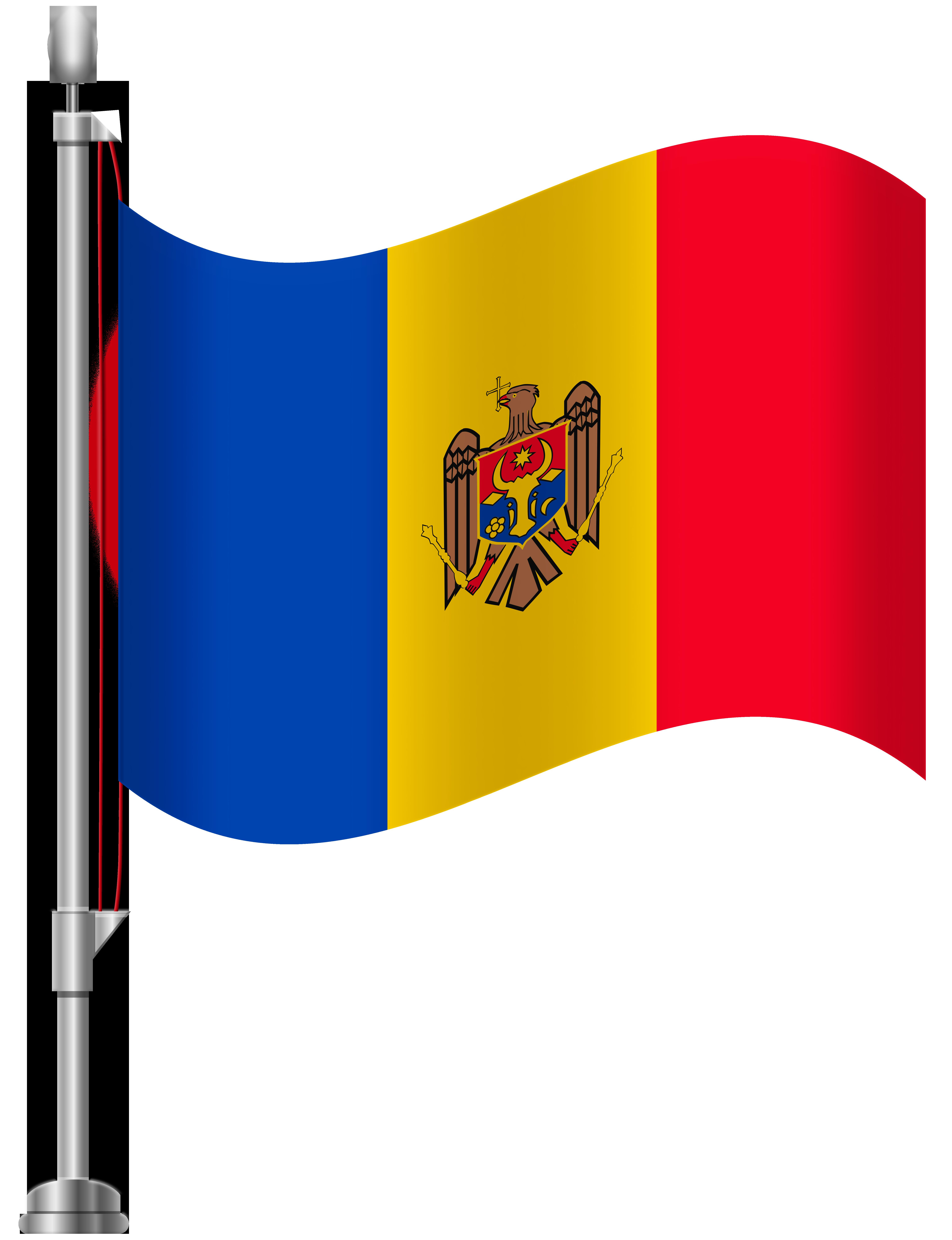 Moldova Flag PNG Clip Art.